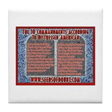 10 Commandments Tile Coaster