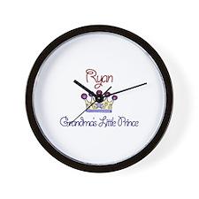 Ryan - Grandma's Little Princ Wall Clock