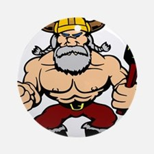 Mad Viking Berserker Ornament (Round)