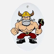Mad Viking Berserker Oval Ornament