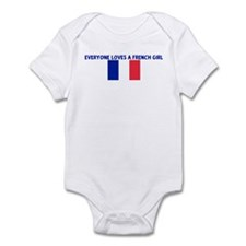 EVERYONE LOVES A FRENCH GIRL Infant Bodysuit