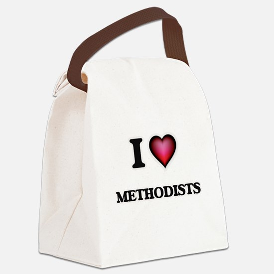 I Love Methodists Canvas Lunch Bag