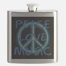 Peace Love Music Flask