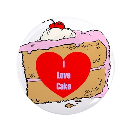 """Cake Slice 3.5"""" Button (100 pack)"""