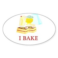 I Bake Cakes Oval Decal