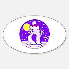 Purple Penguin Oval Decal