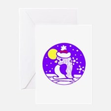 Purple Penguin Greeting Card