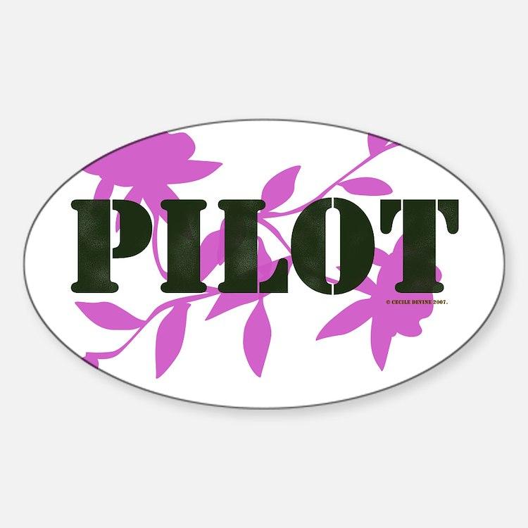 Pilot Oval Decal