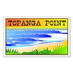 Topanga Point R Rectangle Sticker