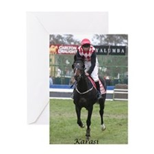 Cute Steeplechase Greeting Card