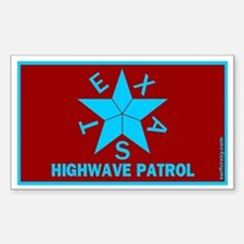Texas Highwave Patrol Rectangle Decal