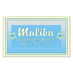Malibu Surfrider Rectangle Sticker