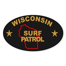 Wisconsin Surf Patrol Oval Bumper Stickers