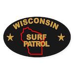 Wisconsin Surf Patrol Oval Sticker