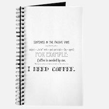 Cute English teacher coffee Journal