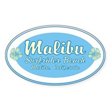 Malibu Surfrider Oval Decal