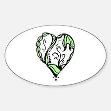 Birth hearts No.4 - Green Decal