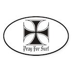 Pray for Surf Oval Sticker