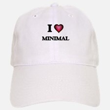 I Love Minimal Baseball Baseball Cap