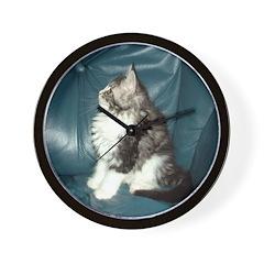 Maine Coon Kitten Wall Clock