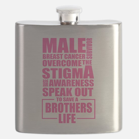 Male Breast Cancer Flask