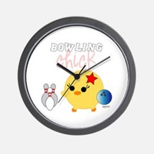 Bowling Chick Wall Clock