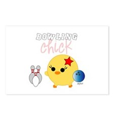 Bowling Chick Postcards (Package of 8)