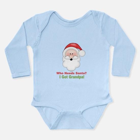 Santa I Got Grandpa Long Sleeve Infant Bodysuit