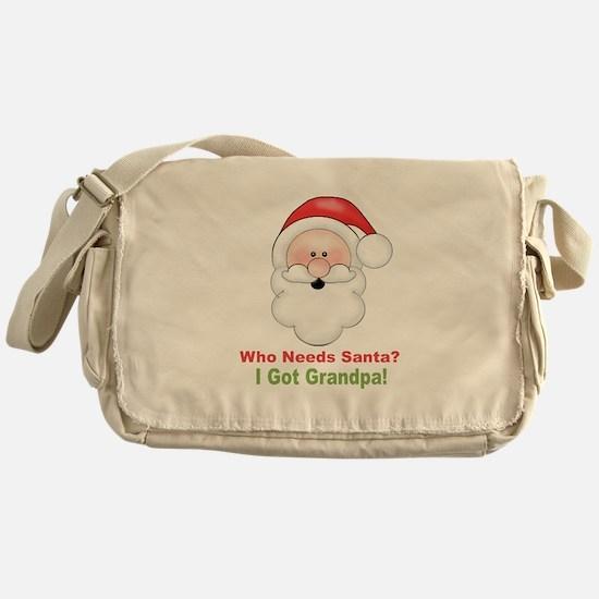 Santa I Got Grandpa Messenger Bag