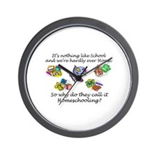 """Homeschooling?"" Wall Clock"