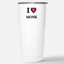 I Love Monk Stainless Steel Travel Mug