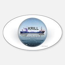Krill America Sticker (Oval)