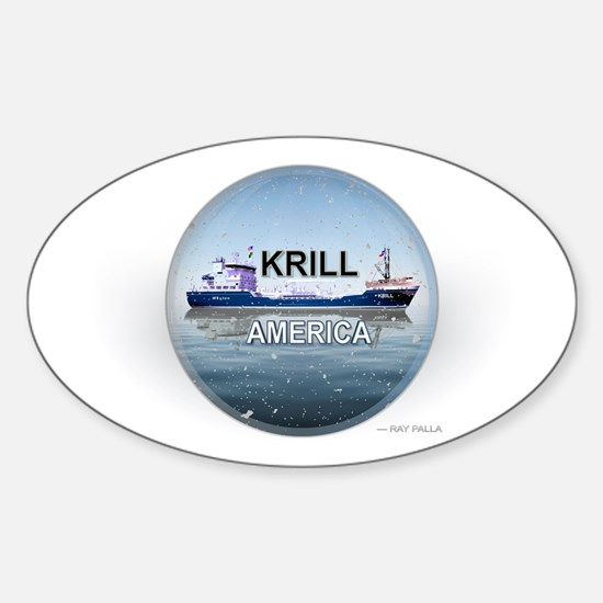 Krill America Sticker (Oval)