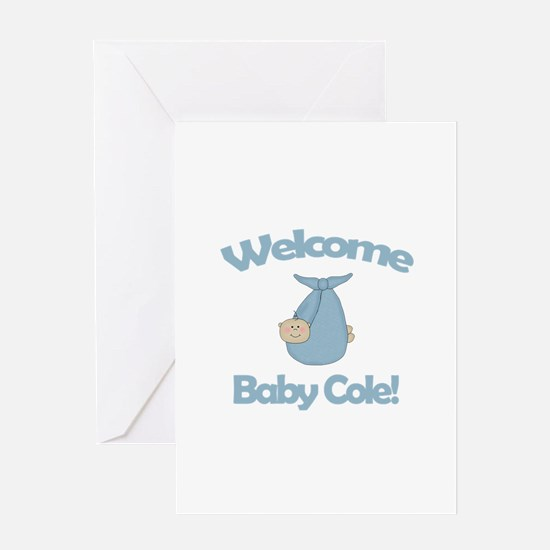 Welcome Baby Cole Greeting Card