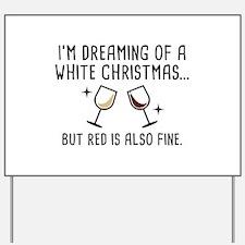 White Christmas Yard Sign