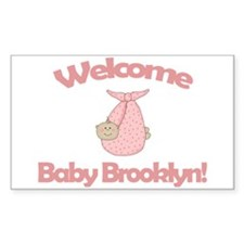 Welcome Baby Brooklyn Rectangle Decal
