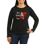 Christmas Faery Women's Long Sleeve Dark T-Shirt