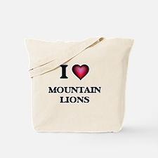 I Love Mountain Lions Tote Bag