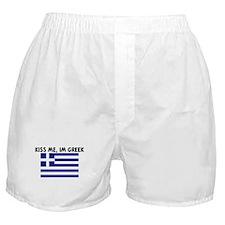 KISS ME IM GREEK Boxer Shorts