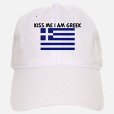 KISS ME I AM GREEK Baseball Baseball Cap