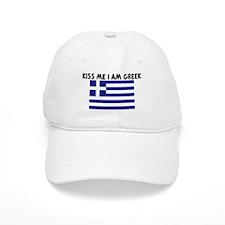 KISS ME I AM GREEK Baseball Cap