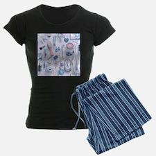 Blue Vanity Table Pajamas