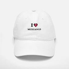 I Love Mustangs Baseball Baseball Cap