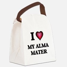 I Love My Alma Mater Canvas Lunch Bag