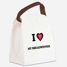 I Love My Breadwinner Canvas Lunch Bag
