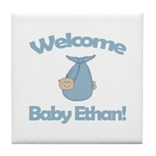 Welcome Baby Ethan Tile Coaster