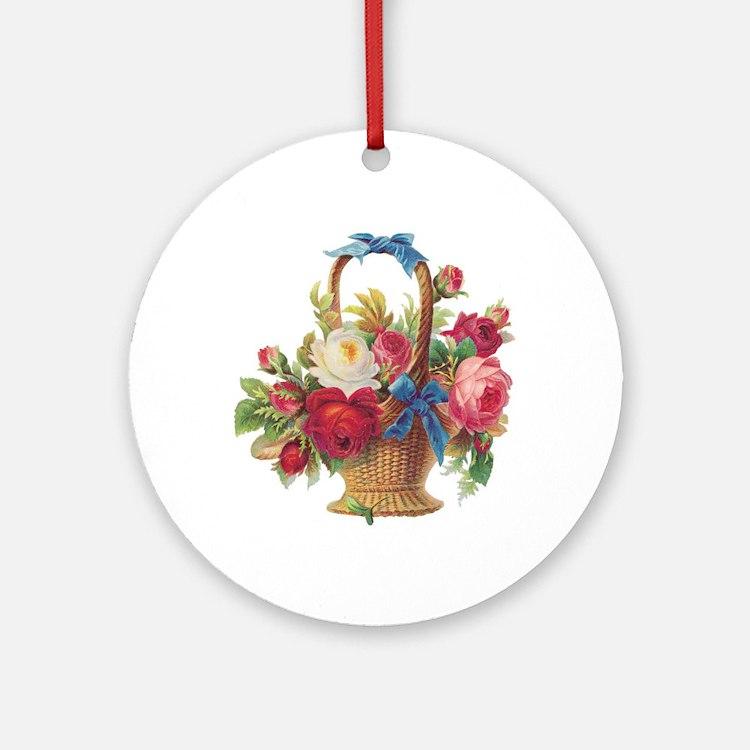 Spring Basket Ornament (Round)