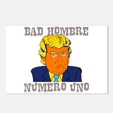 Bad Hombre Numero Uno Postcards (Package of 8)