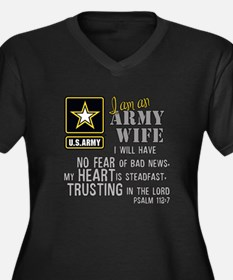 I am an Army Wife Psalm 112 Plus Size T-Shirt