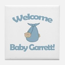 Welcome Baby Garrett Tile Coaster
